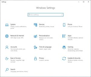 Windows Settings - Apps