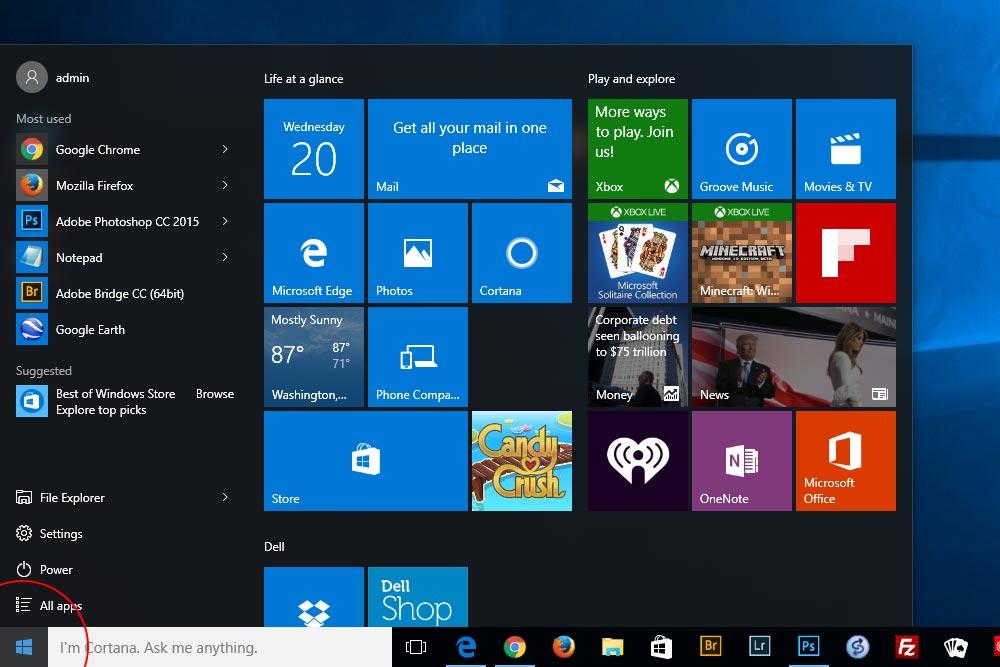 Windows Start Button